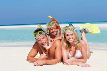 Familien med på ferie